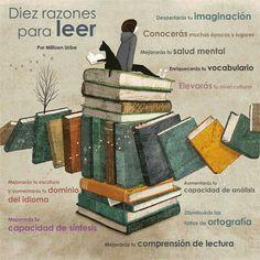 Diez razones para leer por Millizen Uribe #leeressalud