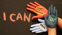 I CAN WE CAN Toolkit : A Window Between Worlds developed the I CAN WE CAN project where everyone can lend their hand, literally, to help end abuse. Create art on your hands as a symbol of solidarity, a commitment that you will do what you can to help end domestic violence and sexual assault.