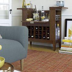 Parker Ebony Spirits Cabinet in Bar Cabinets & Bar Carts | Crate ...