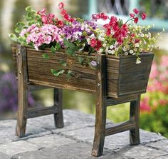 Old Fashioned Wooden Country Planter Box