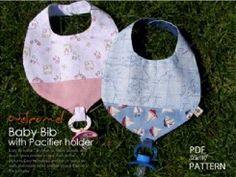 Baby Bib with Pacifier holder