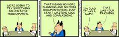 Dilbert talks about Agile Programming