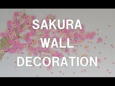 飛び出す桜のメッセージカード How to make a 3D SAKURA POP UP Greeting Card (制作/kimie gangi) - YouTube