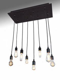 Edison Bulb Industrial Chandelier Modern by IndustrialLightworks