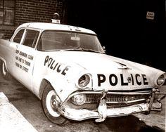 Dearborn Police Car Wreck C. 1961