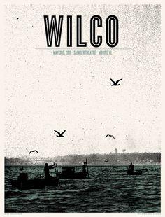 La bellezza dei poster del rock - Wilco, 3 maggio 2011, Mobile (Alabama)