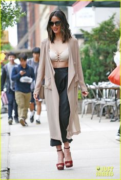 Olivia Munn Shows Off Some Leg in New York City