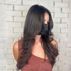 Layerd Hair, Layered Hair With Bangs, Bangs With Medium Hair, Layers For Thick Hair, Black Hair Layers, Long Layers With Bangs, Black Hair Cuts, Haircuts Straight Hair, Haircuts For Medium Hair