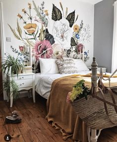 bedroom decor ideas, boho bedroom decor ideas, small bohemian bedroom decor, bed decor ideas, home decor ideas in Bohemian style # New trend in indoor bedroom design # the Bohemian wallpaper bedroom decor # Bohemian indoor bedroom ideas decor My New Room, My Room, Home Bedroom, Bedroom Decor, Bedroom Ideas, Bedrooms, Fall Bedroom, Deco Addict, Home And Deco