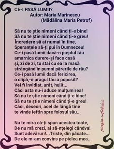 Frumos poem  Felicitări! Words, Quotes, Inspirational, Feelings, Face, Author, Quotations, Faces, Quote