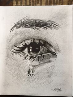 art Projects For Adults is part of Adult Craft Ideas Lots Of Crafts For Adults - Drawing Eyes Crying Pencil Art 29 Ideas Realistic Pencil Drawings, Pencil Art Drawings, Art Drawings Sketches, Cool Drawings, Pencil Portrait Drawing, Sketches Of Eyes, Drawing With Pencil, Pencil Sketch Art, Drawing Portraits