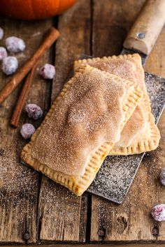 Cinnamon Sugar Nutella Swirled Pumpkin Pie Pop Tarts. These breakfast pastries are irresistible when they're homemade
