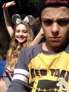 Corey Fogelmanis and Sabrina Carpenter Once again his face looks like my crush
