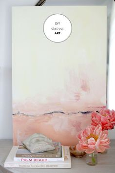Styling & photography: http://smpliving.com | Read More: https://www.stylemepretty.com/living/2013/06/17/diy-abstract-art/