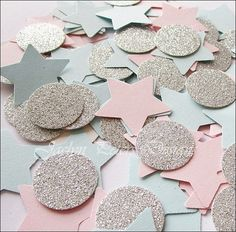 Gender Reveal Party Star Confetti