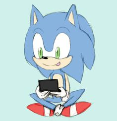 Look, it's Sonic again playing on 3DS by AetherealAbyss.deviantart.com on @deviantART