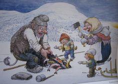 .Rolf Lidberg, Sweden Fairies Mythology, Under Bridge, Baumgarten, Cool Artwork, Gnomes, Elves, Adult Coloring, Illustrators, Fantasy Art