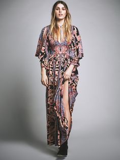 Free People Printed Fern Maxi Party Dress, $350.00