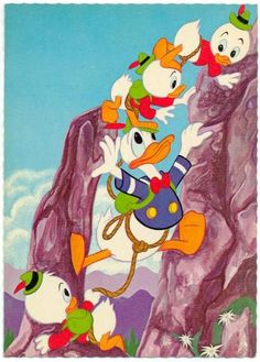 Donald and his nephews go hiking!