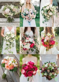 Beautiful Rose Bridal Bouquets Mood Board from The Wedding Community  #weddingflowers #roses #weddingbouquets #weddingideas