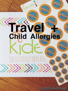 Child Allergies + Travel (with a special offer from Kidecals!)