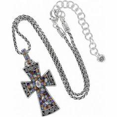 Brighton Crystal Voyage Cross Necklace