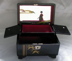 japanese music box vintage antique asian japanese jewelry music by