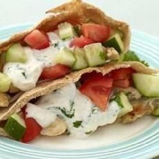 Weight Watchers Greek Chicken Pitas ***Only Merrik & I liked these a little. Not worth making for the whole fam.***