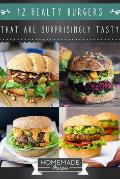 12 Healthy Burger Recipes That Are Surprisingly Tasty | Homemade Vegetarian Recipes That Taste So Good!