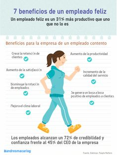 7 beneficios de un trabajador feliz #infografia #infographic #rrhh