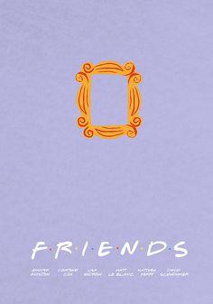 Friends, minimalist poster