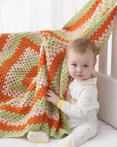 One gigantic granny square for fun games of peek-a-boo.