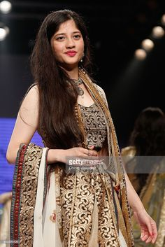 Anmol Malik walks the runway at the Beti show during Day 1 of the India International Jewellery Week at the Grand Hyatt on August 3, 2015 in Mumbai, India.