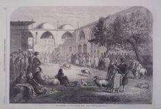 1866 PRINT RAM FIGHTING AT THE PERSIAN KHAN,CONSTANTINOPLE