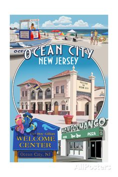 Ocean City, New Jersey - Montage Art Print at AllPosters.com