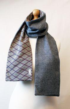 Combination scarf Kimono & Wool fabric by WabiSabiWasabi on Etsy, $29.00