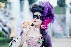 Carnaval de Versailles,  woman in period clothing, masquerade, marie antoinette