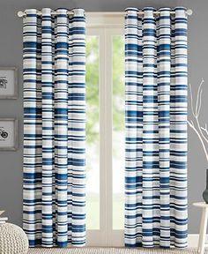 Intelligent Design Sadie Broken Stripe Grommet Window Panel Collection - Window Treatments - For The Home - Macy's