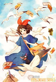 Kiki's Delivery Service by cartoongirl17