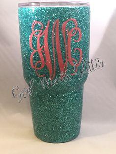 http://www.idecz.com/category/Yeti-Rambler/ Glitter Dipped Yeti Rambler 30oz by GirlMeetsGlitter on Etsy