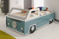 What could be more fun than cruising in a Cool VW Wagon bed?...