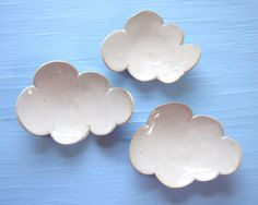 3 small cloud dishes by JDWolfePottery on Etsy, $24.00