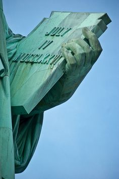 Detail of the Statue of Liberty (taken with 300 mm zoom). We all know the pictures of the whole statue; by zooming in you'll see some magnificent details you probably didn't know about. Enjoy!