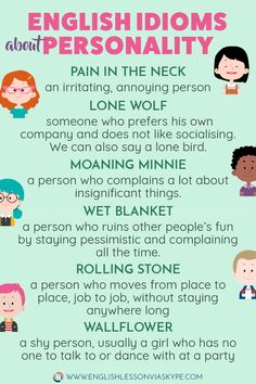 Learn English Idioms related to Character and Personality. Learn to describe people in English. Improve your English vocabulary. #learnenglish #englishlessons #englishteacher #ingles #aprenderingles #englishvocabulary