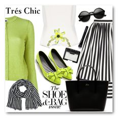 """""""Black & White With a Pop of Lime"""" by brendariley-1 ❤ liked on Polyvore featuring M Missoni, Topshop, Finders Keepers, Lacoste, Chanel, Givenchy and NARS Cosmetics"""