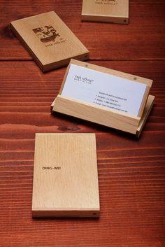 Handmade wooden business card holder pinterest business card love this business card holder colourmoves