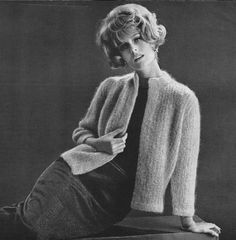 Sexy Knit  Mohair Sweater Pattern by TheGiftNook on Etsy