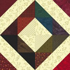 This is a block upon which I can build a quilst. Depression Quilt Block Pattern