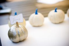 Jenny Steffens Hobick: DIY | Pumpkin Place Cards | Photos by Claire Ryser of Visionaire Studios