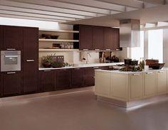 cocina wengue claro y pistacho | Decorar tu casa es facilisimo.com